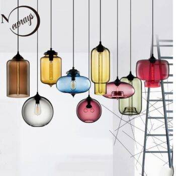 Colorful Modern Art Glass Bowl Pendant Lights Ceiling Pendant Lights