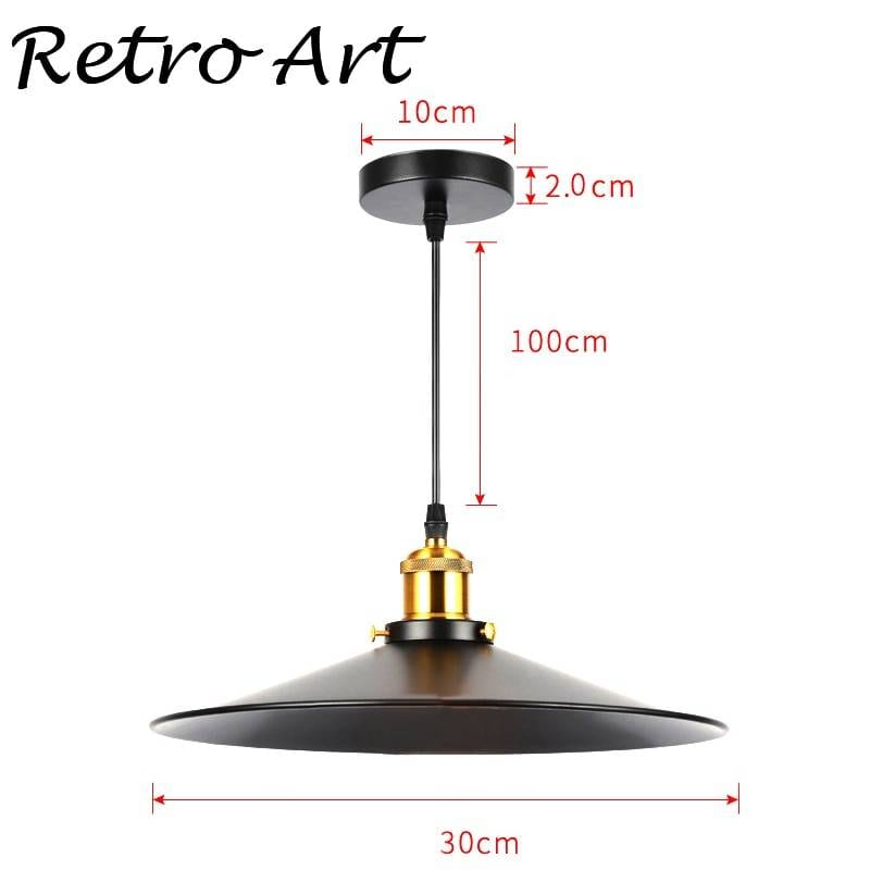 Retro Art Style hanging lamp with lampshade Ceiling Pendant Lights