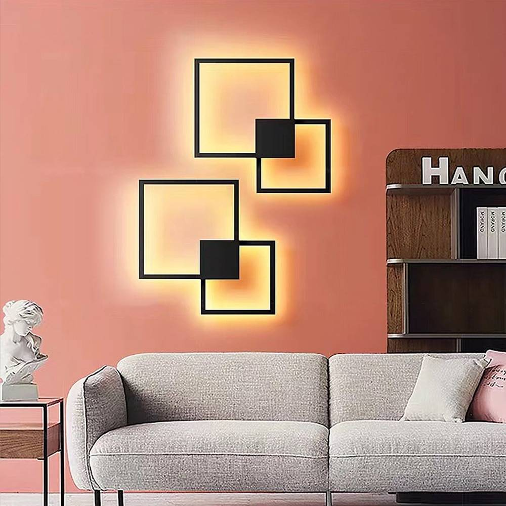 Creative Free Combination Squares LED Wall Light Fixtures Indoor Wall Lamps