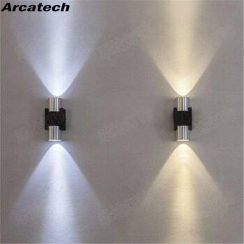 Aluminum Tube Up & Down Lighting LED Wall Lamp Indoor Wall Lamps