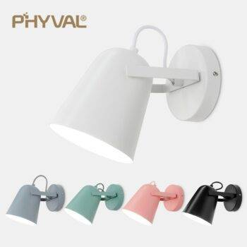 Nordic Macaron Colors Sconce Wall Lamps Indoor Wall Lamps