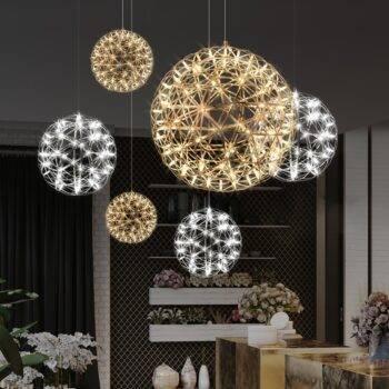 Firework Spark Ball Chandelier Lighting Ceiling Pendant Lights Chandeliers