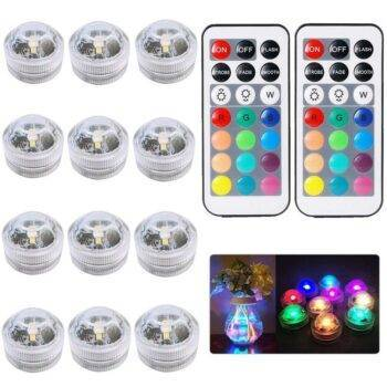 Remote Controlled RGB Submersible Underwater Light Garden Decorative Lights Underwater Lights