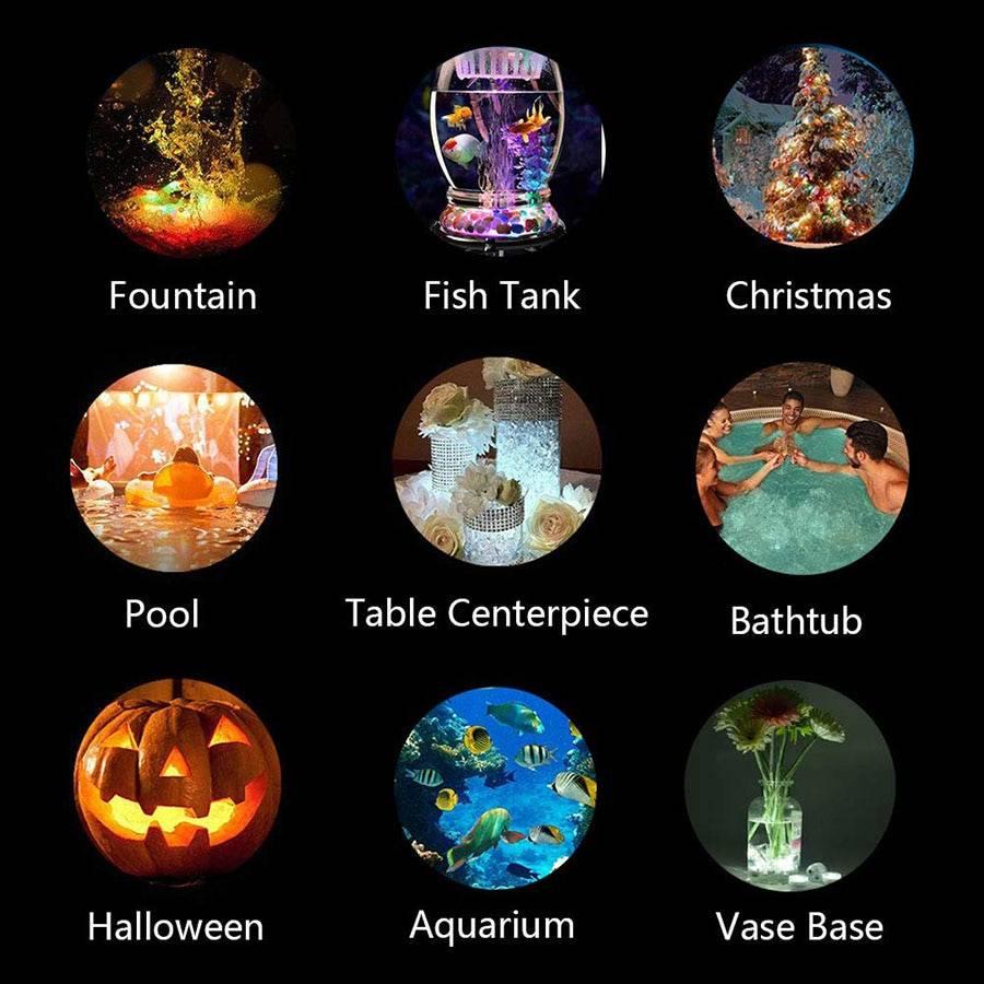 Remote Controlled RGB Submersible Underwater Light Garden Decorative Lights Underwater Lights