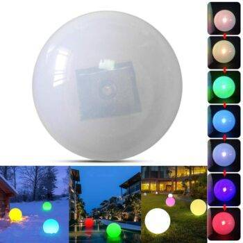Multicolor LED Solar Light Ball For Outdoor | Floating Ball Lamp On Swimming Pool / Pond | Yard Garden Home Decor Garden Decorative Lights Underwater Lights