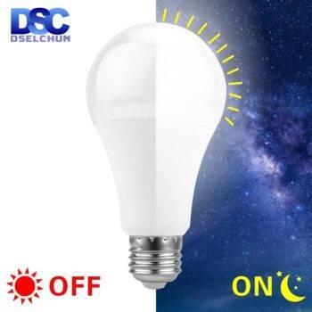 LED Dusk To Dawn Sensor Light Bulb E27 5W 7W 9W 12W AC 110V 220V 85-265V Day Night Light Auto ON/OFF LED Smart Lamp For Garden LED Light Bulbs