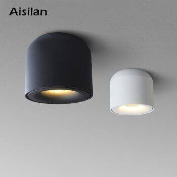 Nordic Surface mounted LED Downlight Ceiling Spotlights / AC90-260v Ceiling Downlights