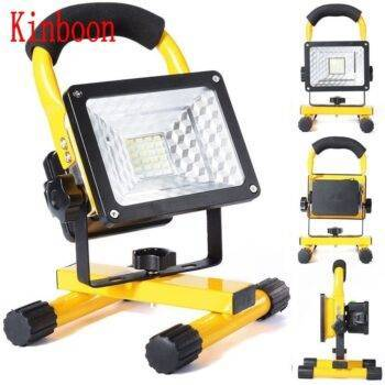 New Portable Rechargeable LED Floodlight Spotlight | Movable Work Light 24LED with 3*18650 Batteries Power + AC Charger Lanterns & Work Lights