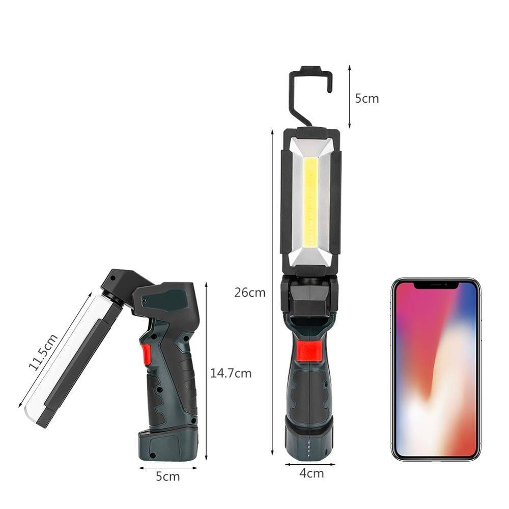 5 Modes COB LED Work Light Flashlight Lantern | Built-in Rechargeable Battery / 360 Degree Rotating / Powerful Magnet Flash Lights & Head Lamps Lanterns & Work Lights