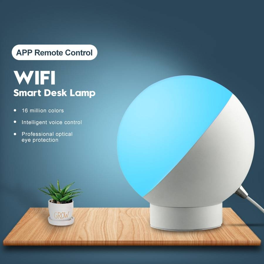 RGB WiFi Smart Dimmable LED Desk Lamps Desk & Table Lamps Lighting Tech Gadgets Night Lamps