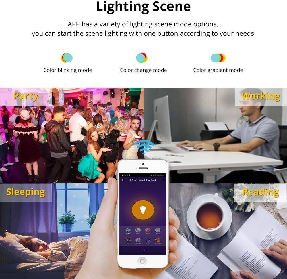 Dimmable Wireless Smart LED RGB Light Bulb LED Light Bulbs Lighting Tech Gadgets