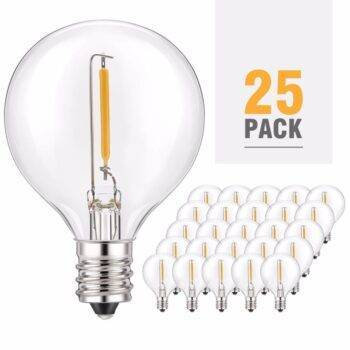 25/Pack Warm White LED G40 Replacement Bulbs LED Light Bulbs