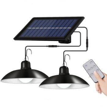 Solar Powered Retro Pendant Light With Remote Control Deck / Fence / Path Lights Garden Decorative Lights