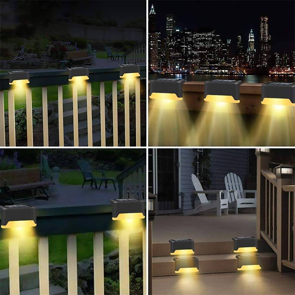 4/8/12Pcs Outdoor LED Solar Deck Lights | Waterproof Solar Path Stair Pathway Fence Light Deck / Fence / Path Lights