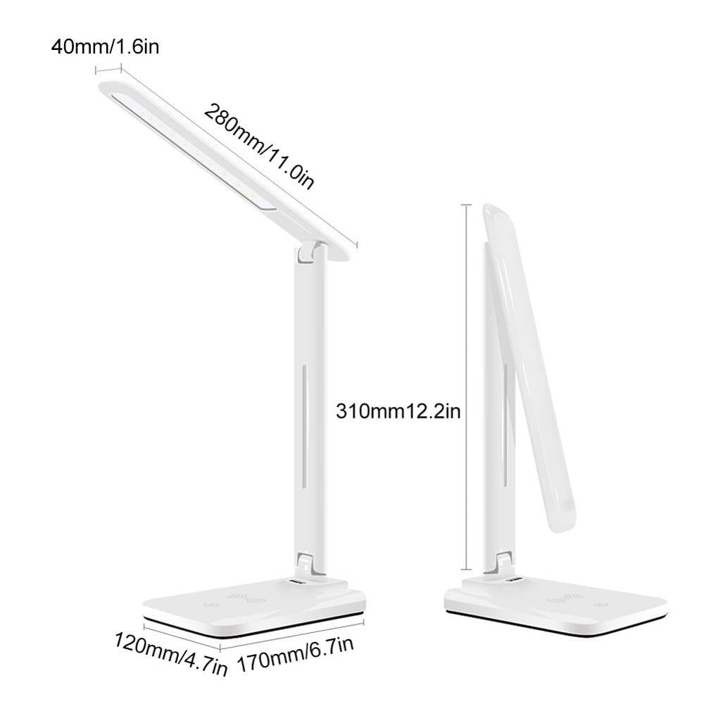 LED Desk Lamp With Qi Wireless Phone Charging Dock | Dimmable Eye-Caring Lamp Desk & Table Lamps Lighting Tech Gadgets