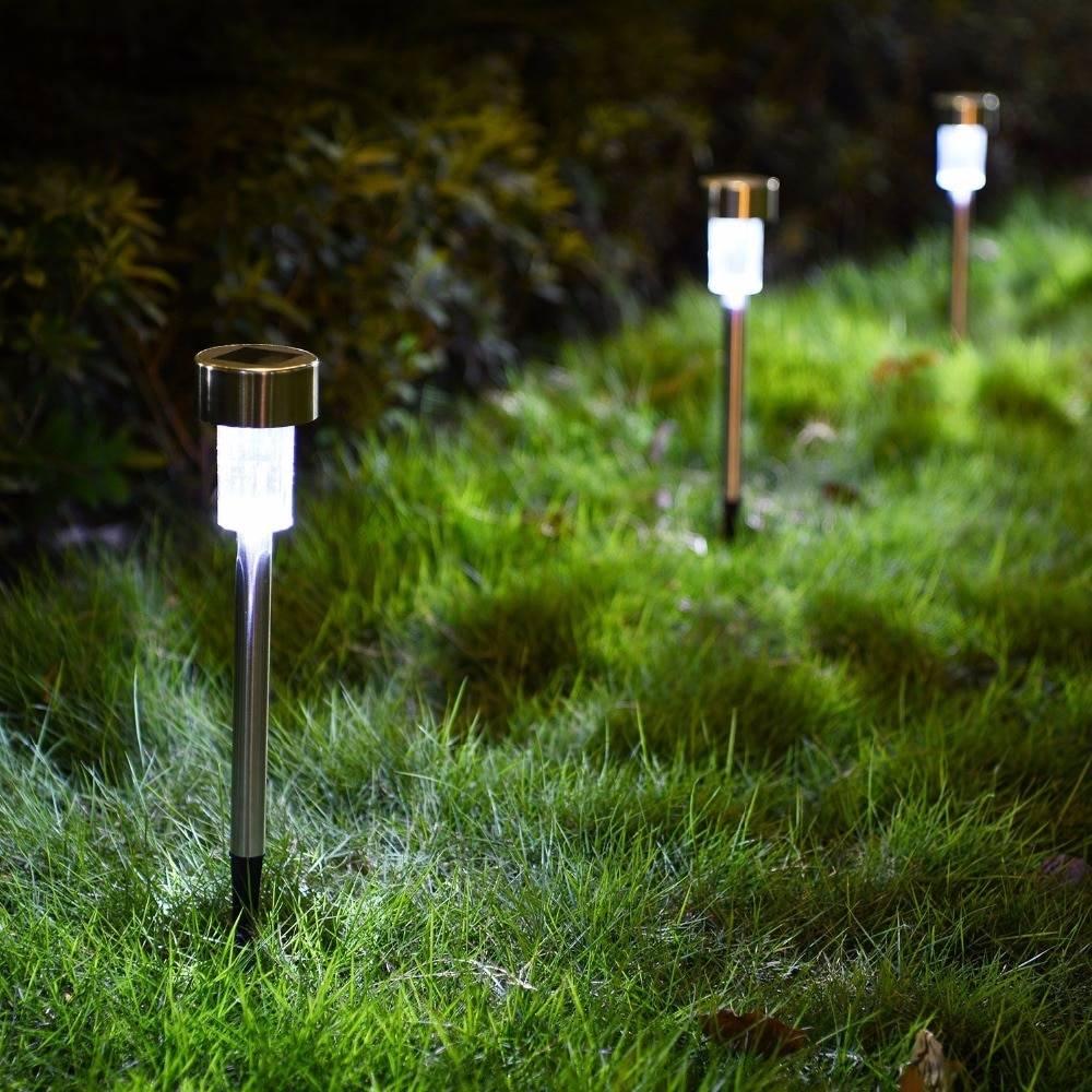 12pcs LED Solar Powered Garden Pathway Lamps Deck / Fence / Path Lights Garden Decorative Lights