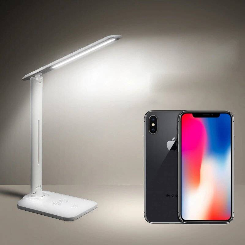 LED Desk Lamp With Qi Wireless Phone Charging Dock   Dimmable Eye-Caring Lamp Desk & Table Lamps Lighting Gadgets