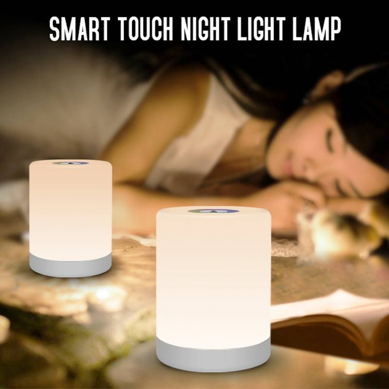 Portable RGB Colorful Smart Touch Night Lamp Lanterns & Work Lights Night Lamps