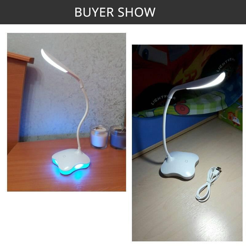 Flexible Clover LED Sensor Desk Lamp Desk & Table Lamps