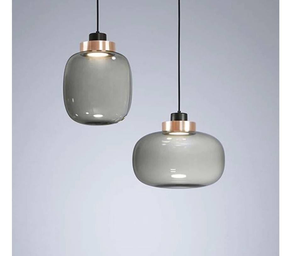 Light Grey Glass Lighting
