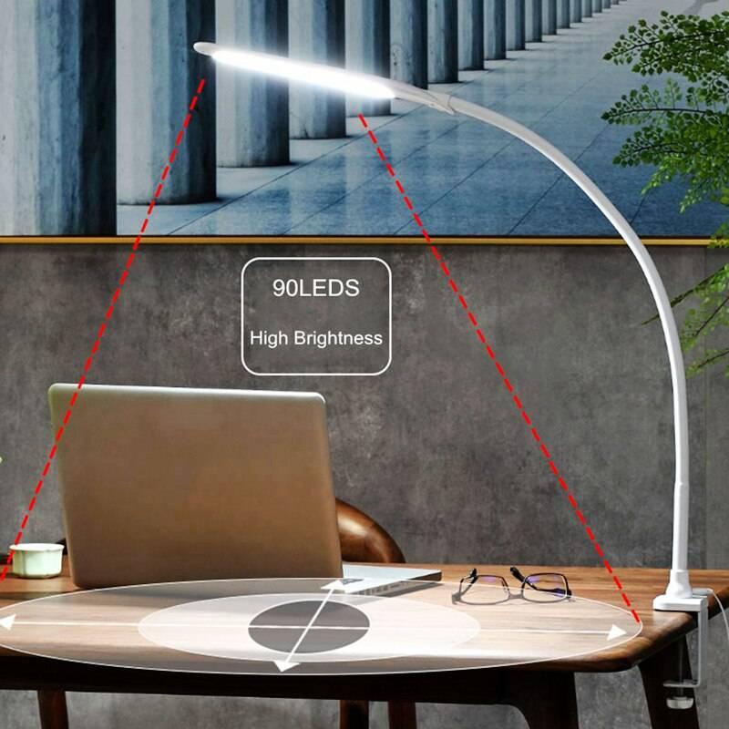 Flexible Gooseneck Long Arm LED Desk Lamp Desk & Table Lamps