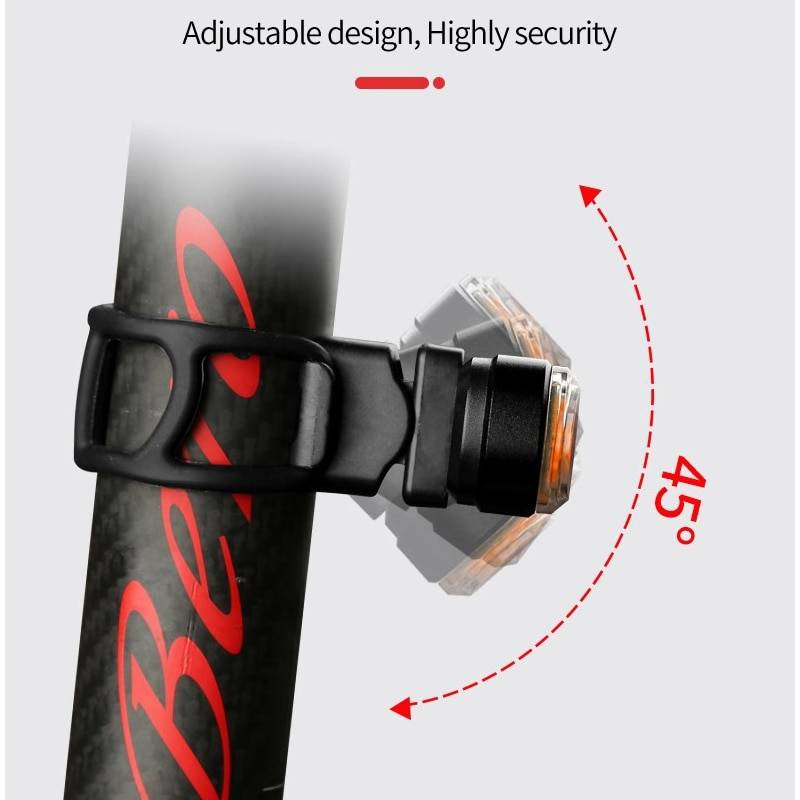 Bicycle USB Rechargeable Turn Signal Remote Taillight Flash Lights & Head Lamps Lighting Tech Gadgets