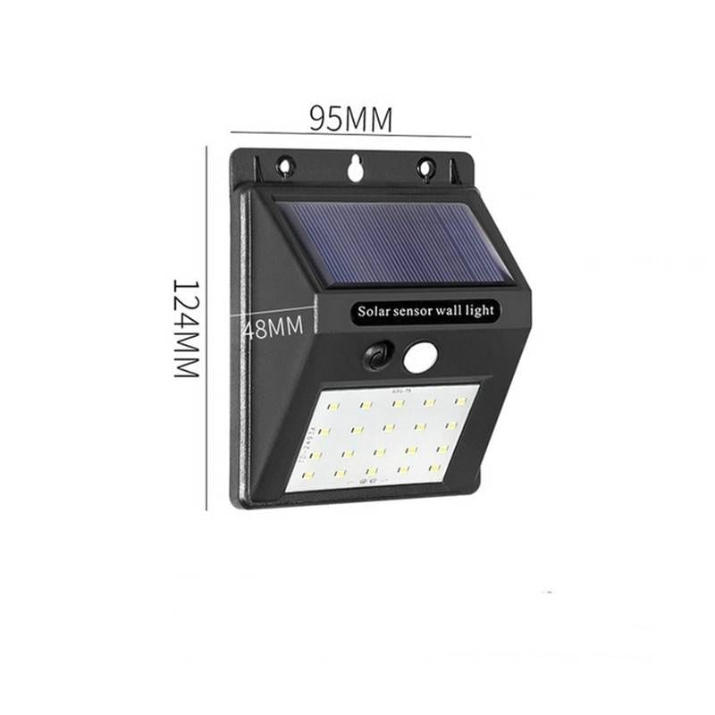 20/100/144 LEDs Solar Light Outdoor Solar Lamp Powered Sunlight Waterproof PIR Motion Sensor Street Light for Garden Decoration Solar Powered Security Lights