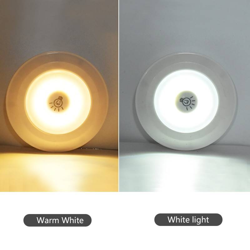 3W Super Bright Cob Under Cabinet Light LED Wireless Remote Control Dimmable Wardrobe Night Lamp Home Bedroom Closet Kitchen Novelty Lightings