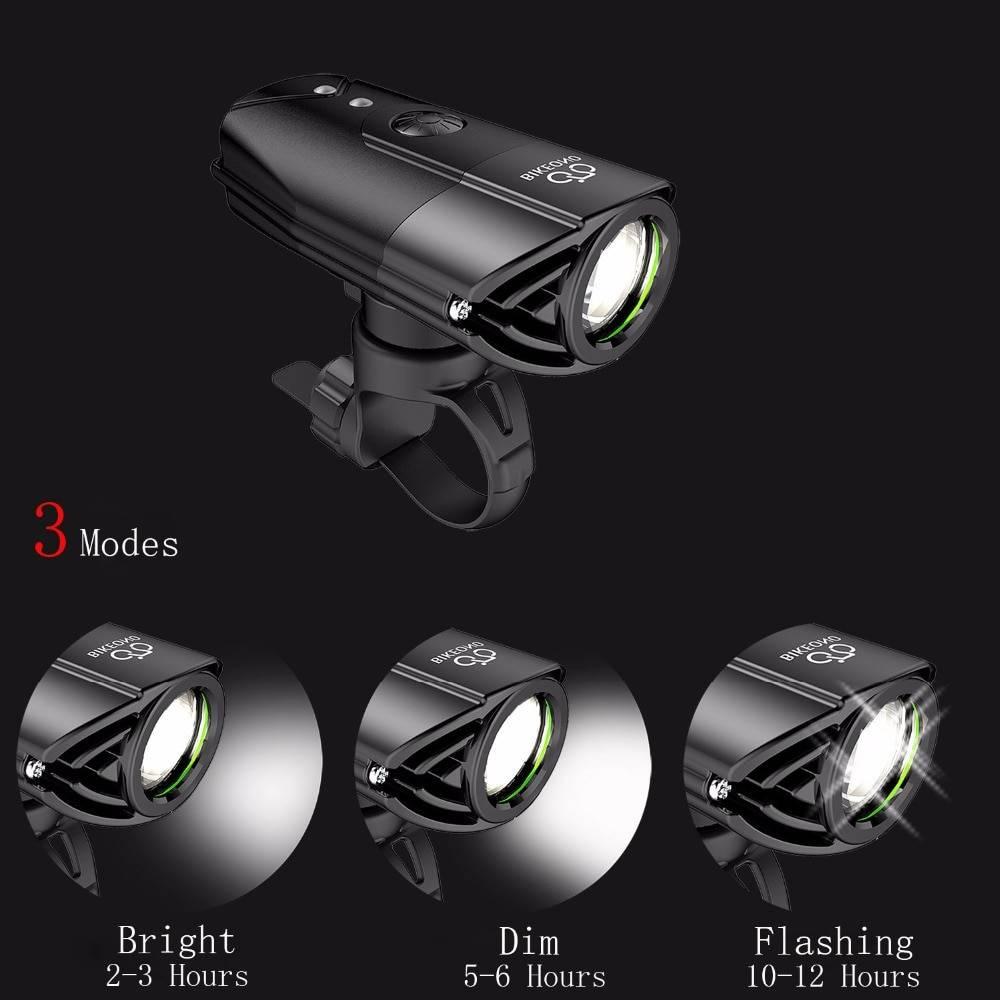BIKEONO 1200 Lumens Bicycle Light Bike Headlight LED Taillight USB Rechargeable Flashlight MTB Cycling Lantern For Bicycle Lamp Flash Lights & Head Lamps