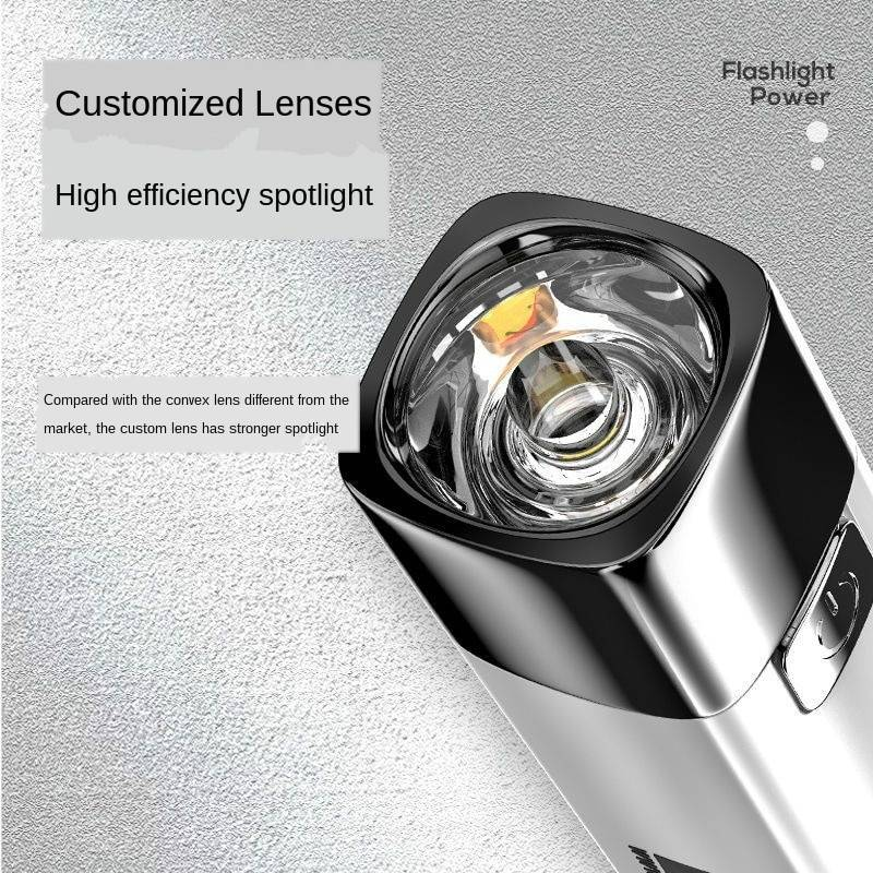Flashlight Commando Light Rechargeable Charging Treasure Multifunctional Bright Field Super Bright Mini Household Durable Lamp Flash Lights & Head Lamps
