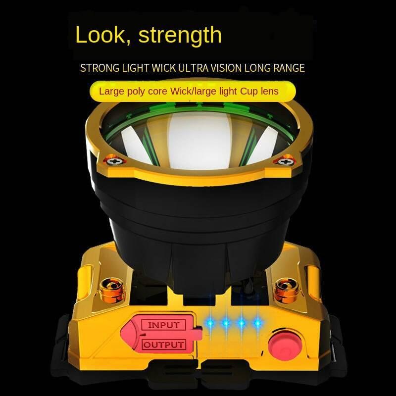 LED Headlamp High Light Long Shot Rechargeable Waterproof Super Bright Night LightMine Lamp Outdoor Household Flashlight Flash Lights & Head Lamps