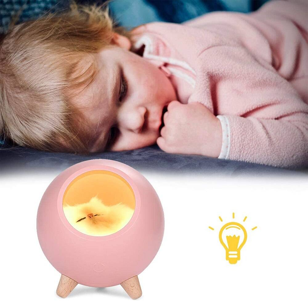 Led Cat Night Light Bedroom Decoration Table Lamp Touch Dimming  Rechargeable Hamster House for Kid Baby Gift Home Bedside Lamp Novelty Lightings