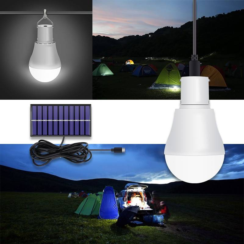 CanLing LED Solar Lamp 15W 250LM USB 5V Solar Power Light Portable Outdoor Camp Tent Fishing Bulb With Solar Panel Free Shipping Lanterns and Work Lighting
