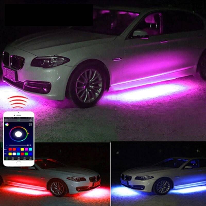 Car Underbody RGB Atmosphere Flexible Strip Lights Lighting Gadgets Novelty Lightings