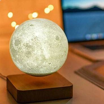 Creative 3D Magnetic Levitation Moon Lamp Lighting Gadgets Night Lamps Novelty Lightings