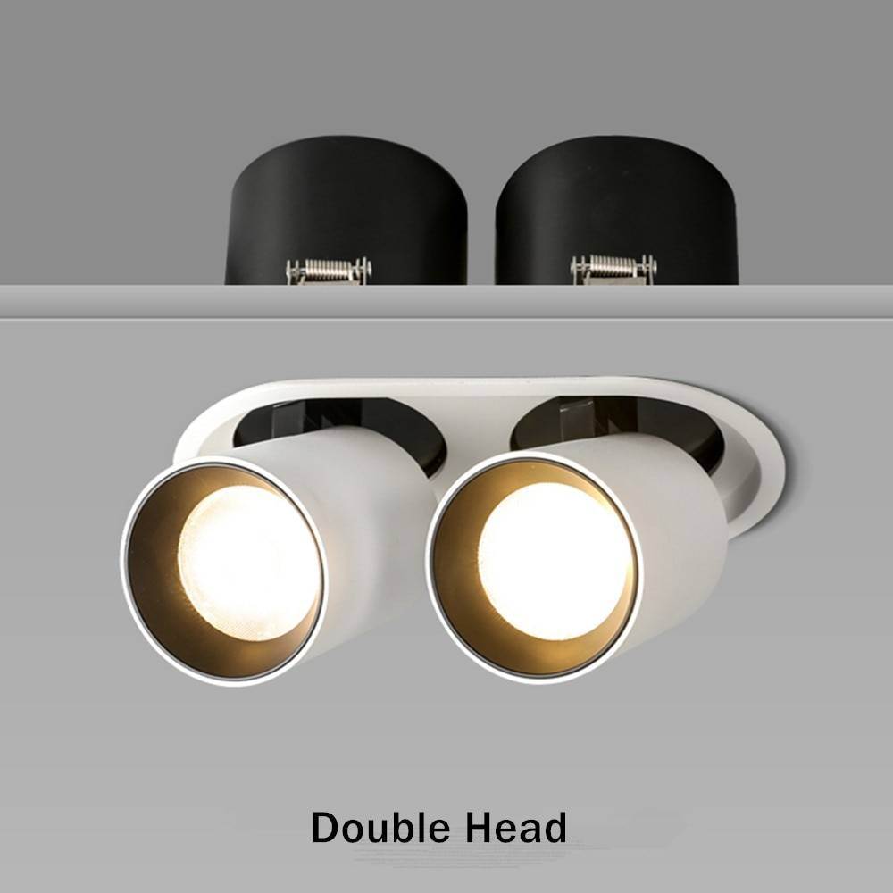 Embedded & Stretchable Single/Double Head LED Spot Light Ceiling Downlights
