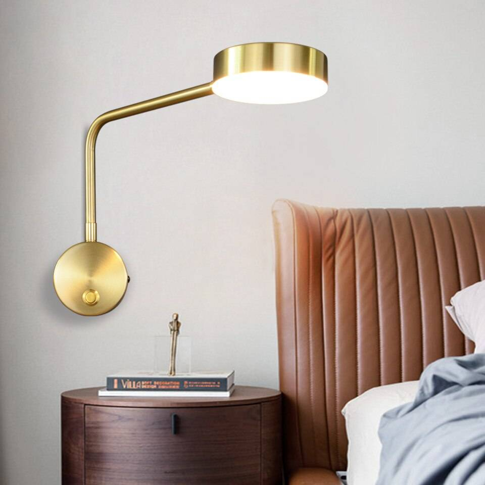 Modern Wall Lights Bedside For Bedroom Arm Swivel LED Wall Lamp Living Room Home Lighting With Switch Wall Sconce Indoor Wall Lamps