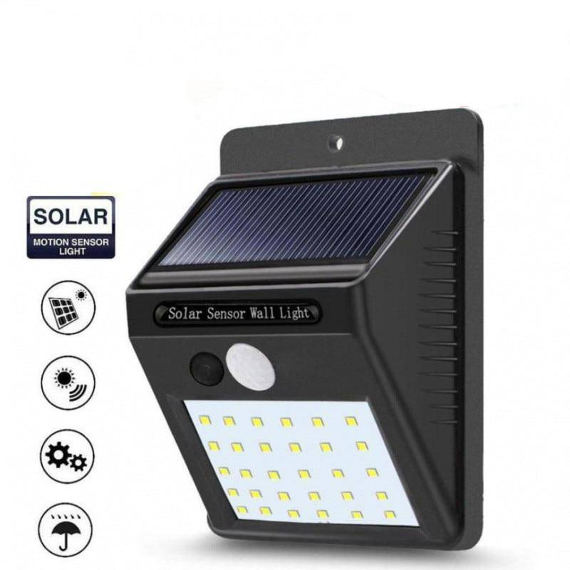 20/100/144 LEDs Outdoor Solar Powered Wall Lamp Exterior Wall Lamps Solar Powered Security Lights