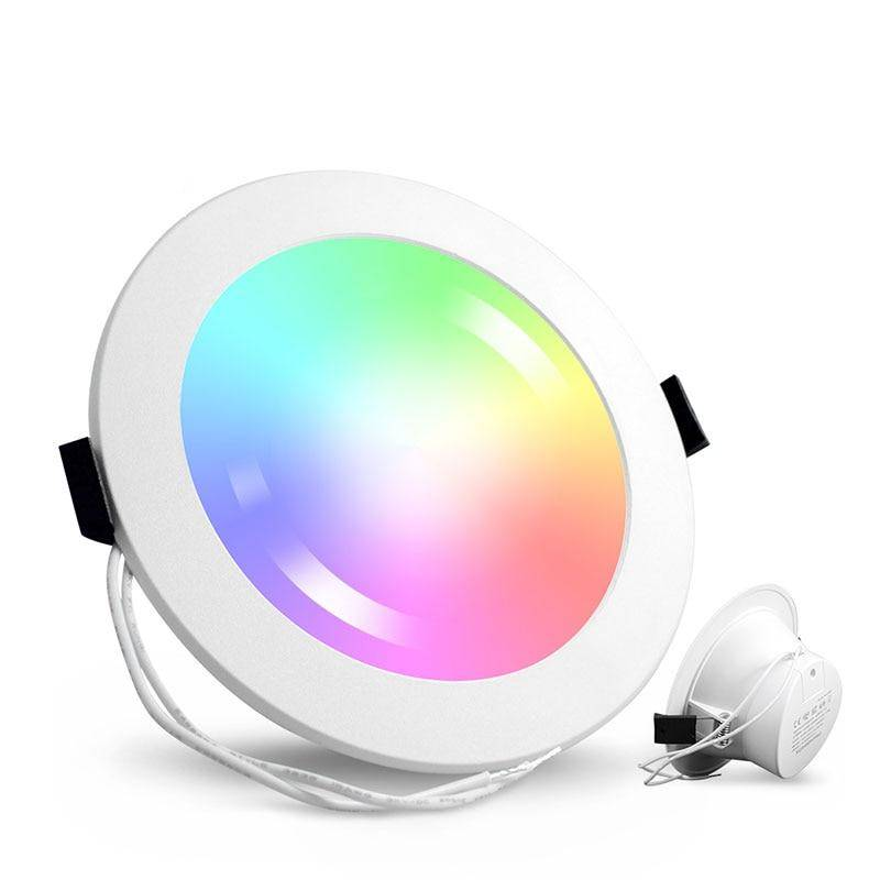 Smart LED RGB Recessed Round Ceiling Spotlight Ceiling Downlights Lighting Gadgets
