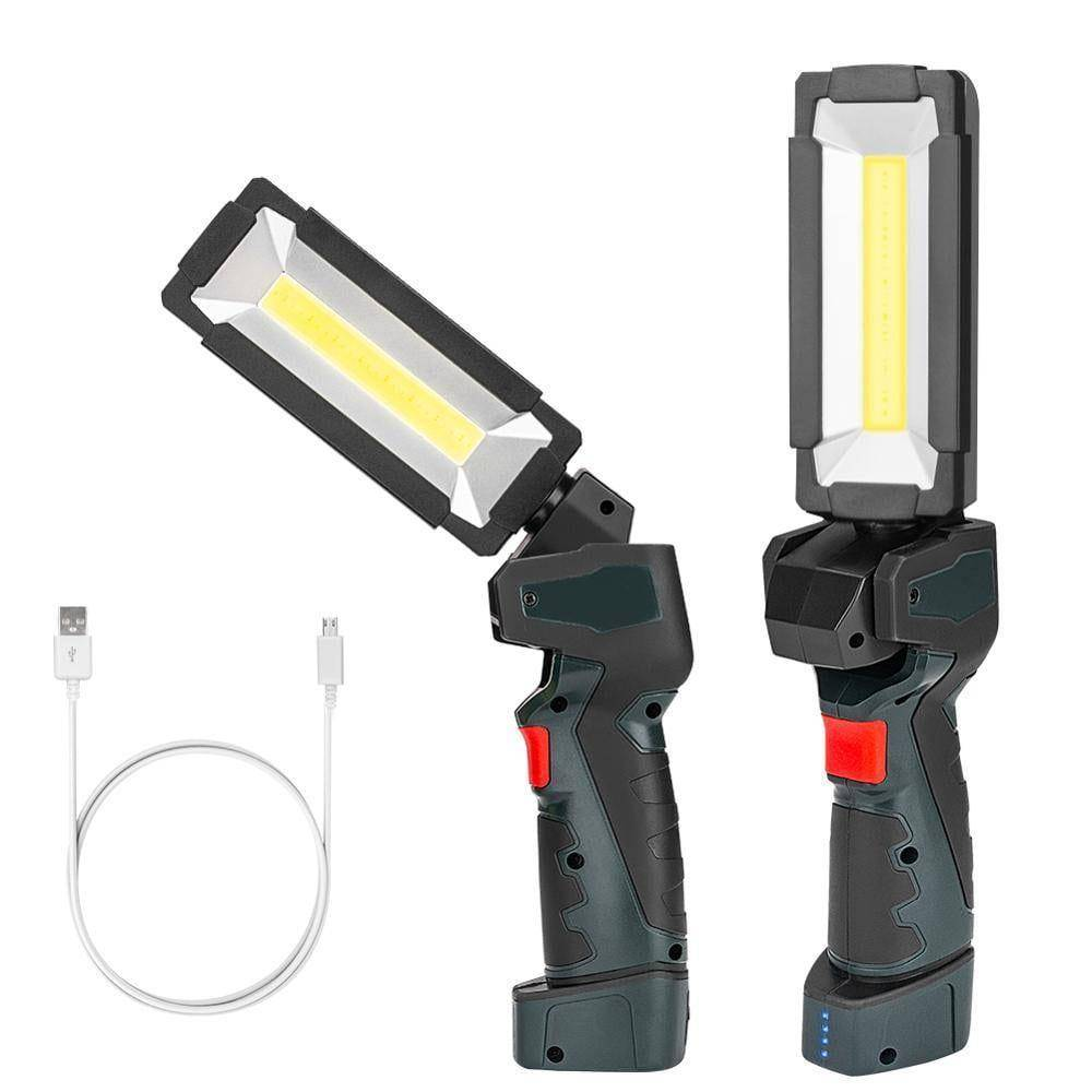 5 Modes COB LED Work Light Flashlight Lantern | Built-in Rechargeable Battery / 360 Degree Rotating / Powerful Magnet Flash Lights & Head Lamps Lanterns and Work Lighting
