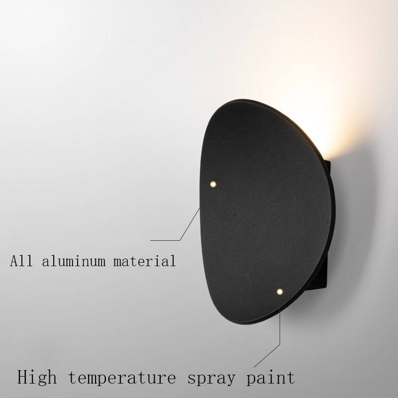 7w Modern Interior Wall Lamps Aluminum White And Black Brushed Gold Decoration Living Room Bedside Wall Lights BL05 Indoor Wall Lamps