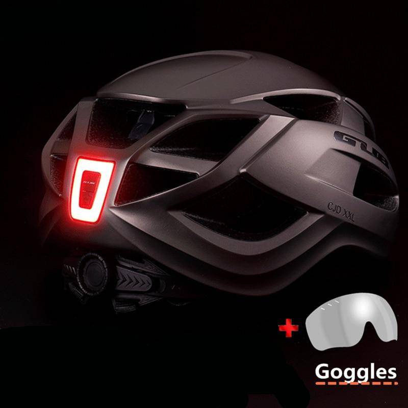 Bicycle Helmet With Goggle & Taillight Flash Lights & Head Lamps Lighting Gadgets