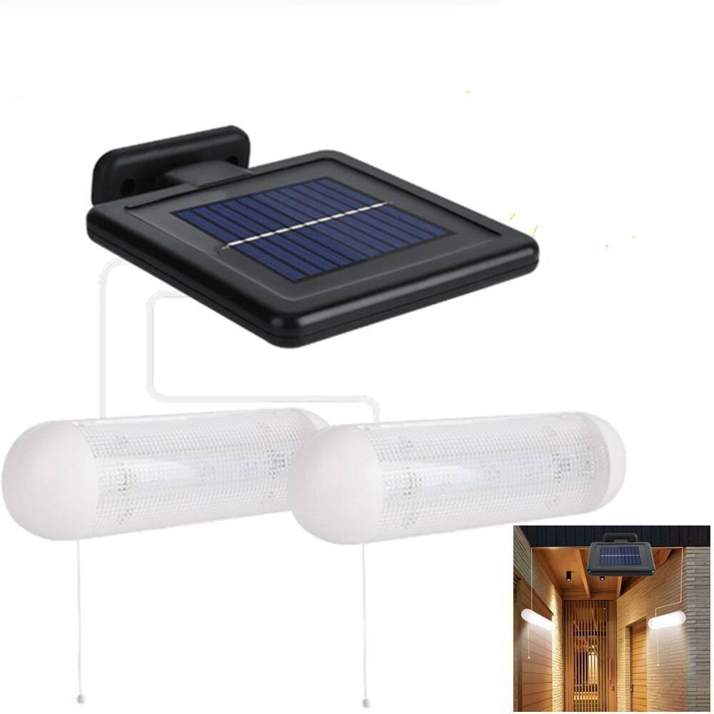 Double Head Wall Lamp with Separable Solar Panel Exterior Wall Lamps Solar Powered Security Lights