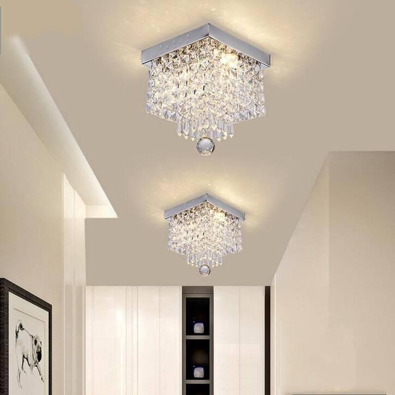 Elegant Square Design High-End Crystal Chandelier Ceiling Downlights Chandeliers
