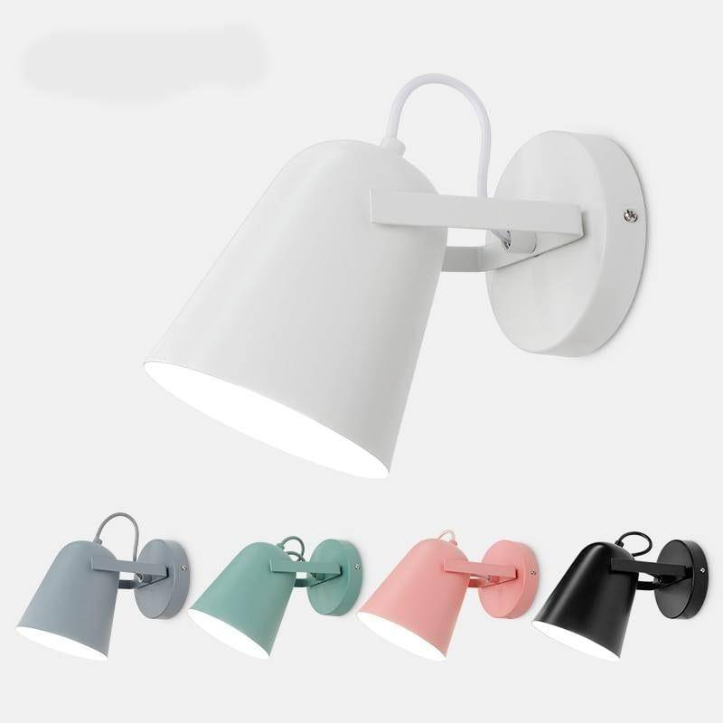 Nordic Macaron Colors Wall Sconce Lamp Indoor Wall Lamps