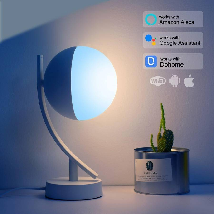 RGB WiFi Smart Dimmable LED Desk Lamps Desk & Table Lamps Lighting Gadgets Night Lamps