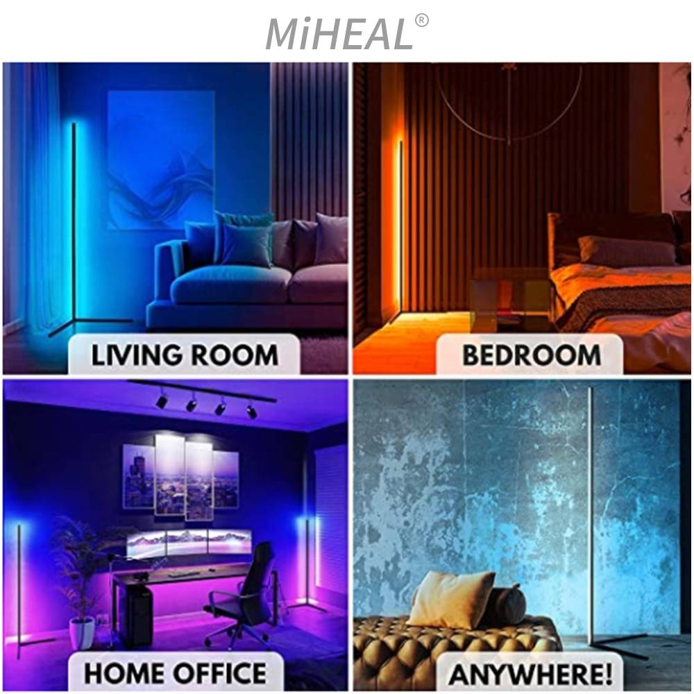 RGBW LED Floor Lamp Modern Led Dimmable Remote Control Standing Light For Living Room Bedroom Study Decor Lighting Floor Lamps