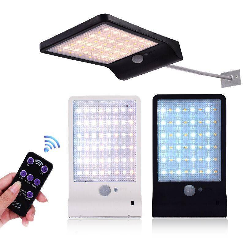 Remote Control 48 LEDs Double Lighting Color Solar Lamp Exterior Wall Lamps Solar Powered Security Lights