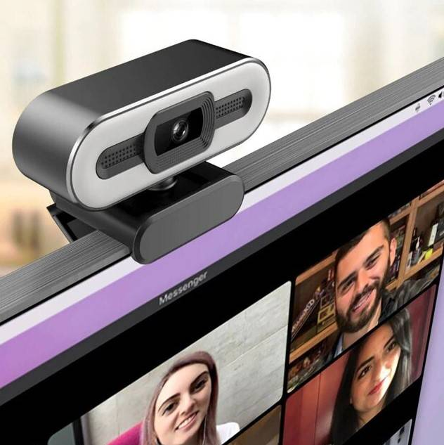 Auto Focus Fill-Light Webcam With Microphone Lighting Gadgets