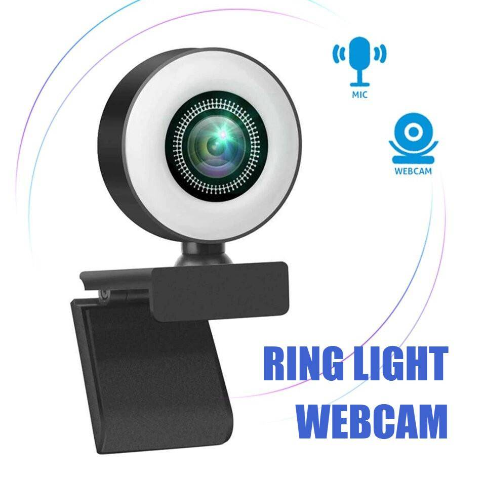 HD Ring Light Webcam with Microphone Lighting Gadgets